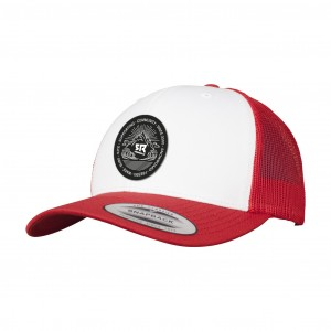 Curved Trucker Red/White/Red