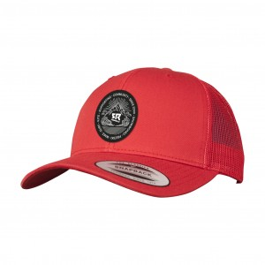Curved Trucker Red
