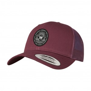Curved Trucker Maroon
