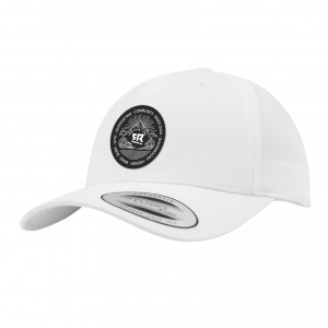Curved Snapback White