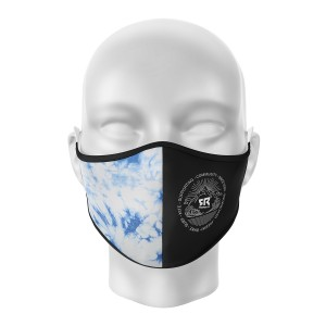 FR Facemask Black/Tie&Dye Blue